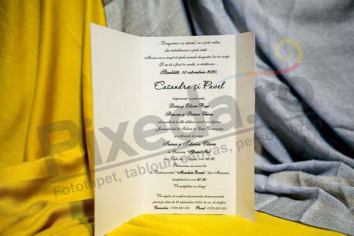 Imagine Invitatii nunta 207 mov cu flori