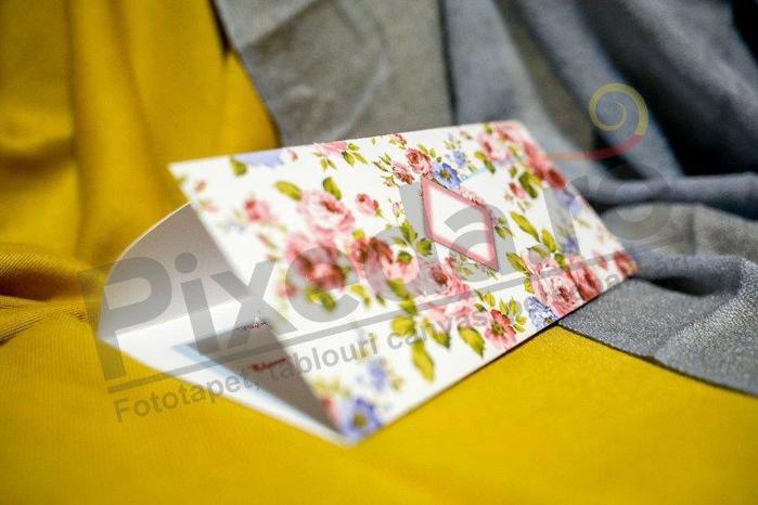 Imagine Invitatii nunta 211 ornamente flori