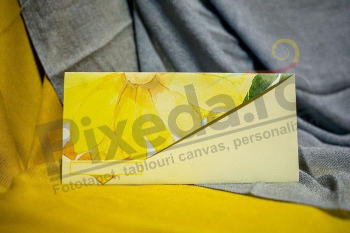 Imagine Invitatii nunta 214 floare galbenă