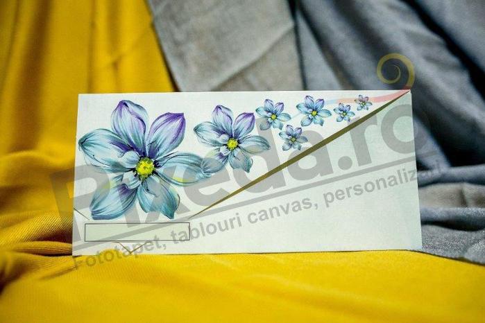 Imagine Invitatii nunta 215 flori albastre