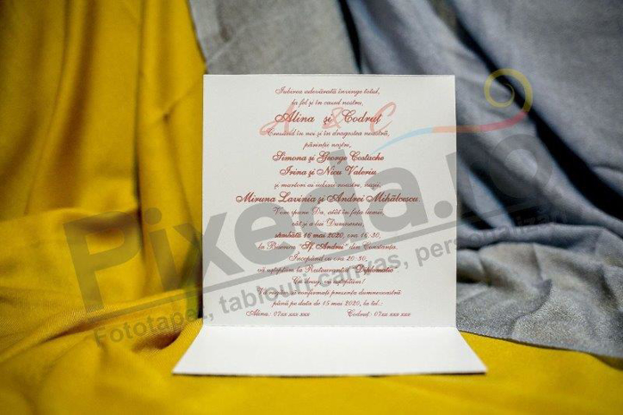 Imagine Invitatii nunta 217 trandafiri