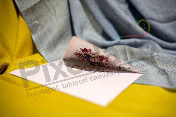 Imagine Invitatii nunta 219 formă plic roz