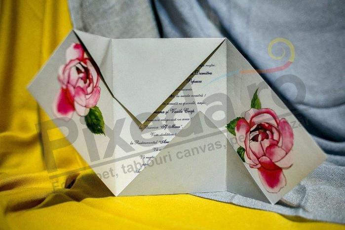 Imagine Invitatii nunta 222 ornamente florale
