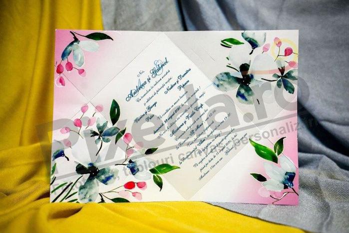 Imagine Invitatii nunta 223 ornament floral