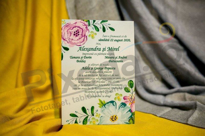 Imagine Invitatii nunta 225 plic verde
