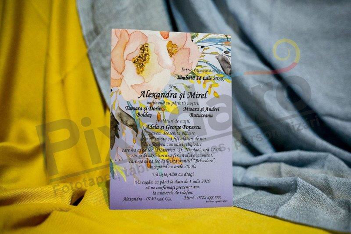 Imagine Invitatii nunta 226 formă plic lila