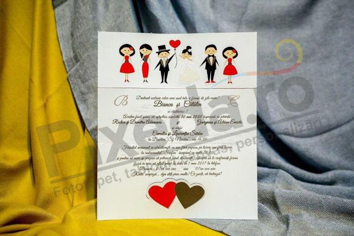 Imagine Invitatii nunta 229 însurăței și invitați