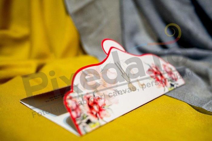 Imagine Invitatii nunta 231 roșie cu buline