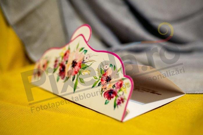 Imagine Invitatii nunta 232 mov cu buline