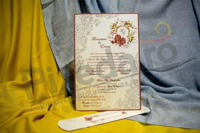 Imagine Invitatii nunta 3221 stil papirus