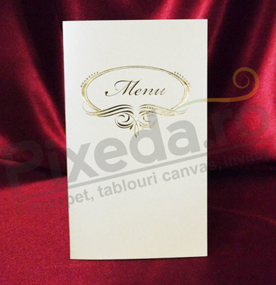 Imagine Meniu de nunta Me 02 chenar auriu
