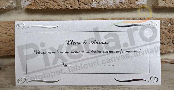 Imagine Mape de bani nunta PZA 9 inimioare argintii