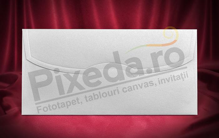 Imagine Plic invitatii nunta z003 alb sidefat