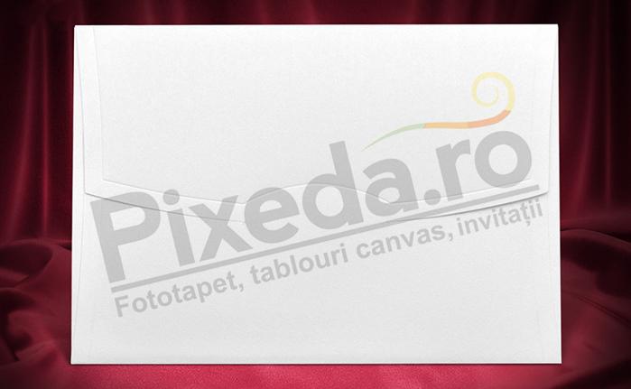 Imagine Plic invitatii nunta z005 alb