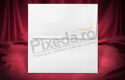 Imagine Plic invitatii nunta z036 alb mat pătrat