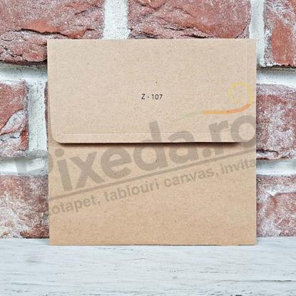 Imagine Plic invitatii nunta z107 pătrat kraft