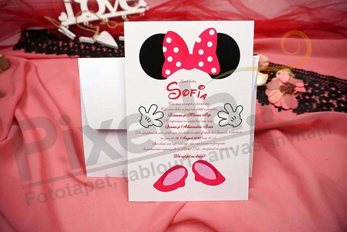 Imagine Invitatii de botez N24_x_M42 Minnie Mouse