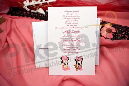 Imagine Invitatie de botez N24_x_M32 baby Minnie Mouse