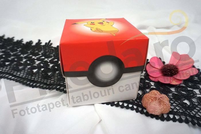 Imagine Invitatii de botez 3627B cutiuță Pikachu