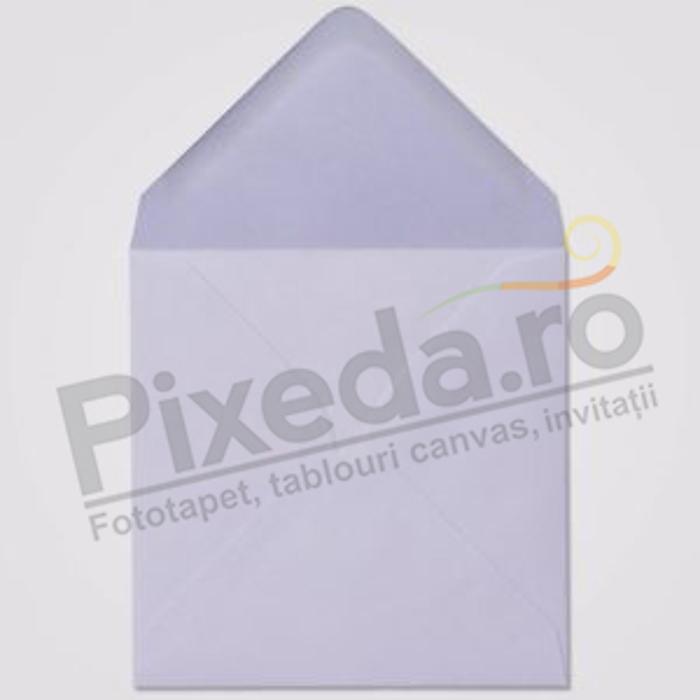 Imagine Plic invitații Pixeda pătrat lila pastel