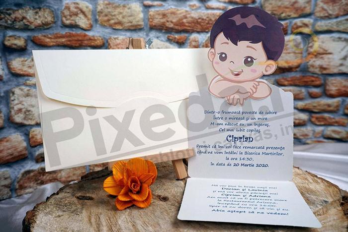 Imagine Invitatii de botez 18003B băiețel