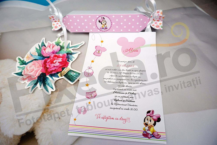 Imagine Invitatii de botez pink_candy