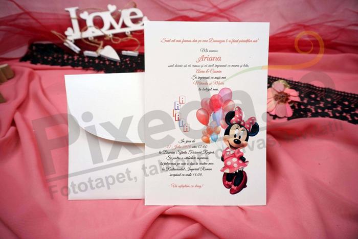 Imagine Invitatii de botez N23_x_M34 Minnie Mouse