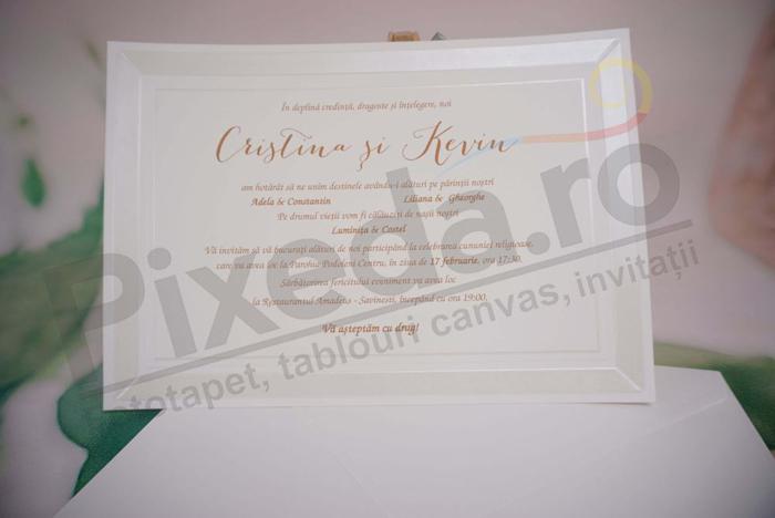 Imagine Invitatii nunta alb elegant 1119