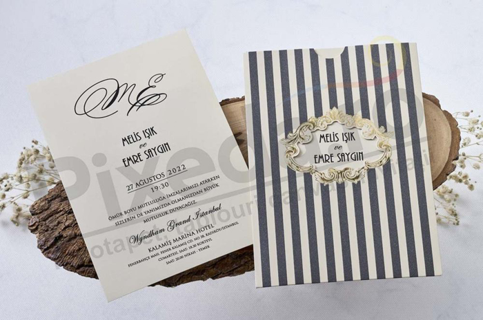 Imagine Invitatii nunta 1126 dungi