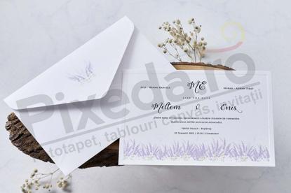 Imagine Invitatii nunta 1141 flori de lavanda
