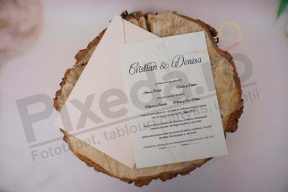 Imagine Invitatii nunta 1143  design marmura