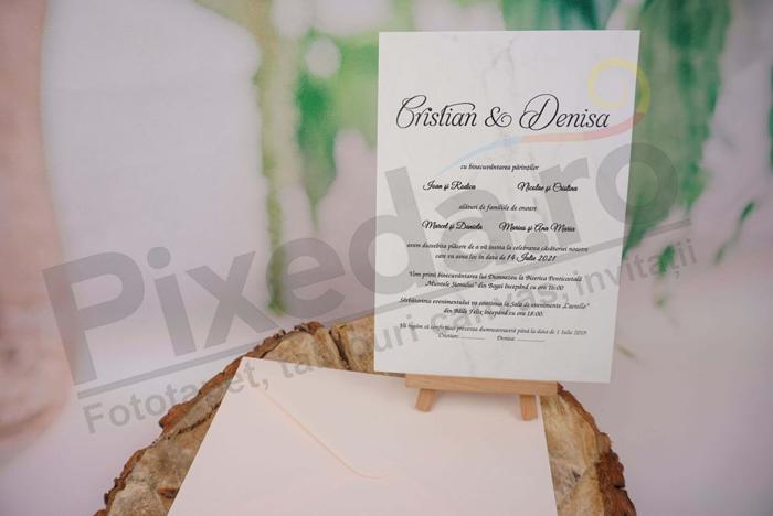 Imagine Invitatii nunta 1143  design marmură