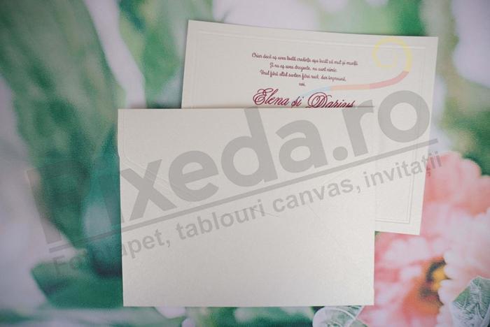 Imagine Invitatii nunta 1154 textură crem