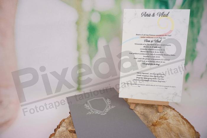 Imagine Invitatii nunta 1155 design marmură