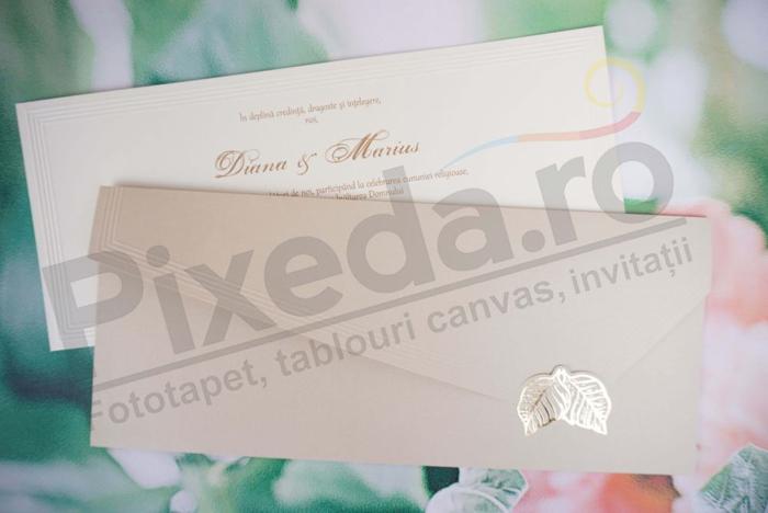 Imagine Invitatii nunta 1171 frunze aurii