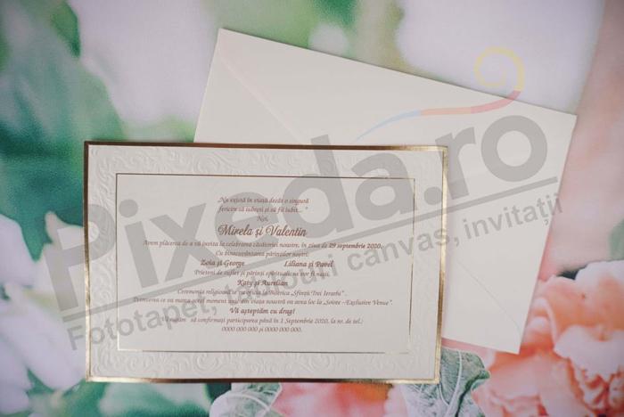 Imagine Invitatii nunta 1172 chenar embosat