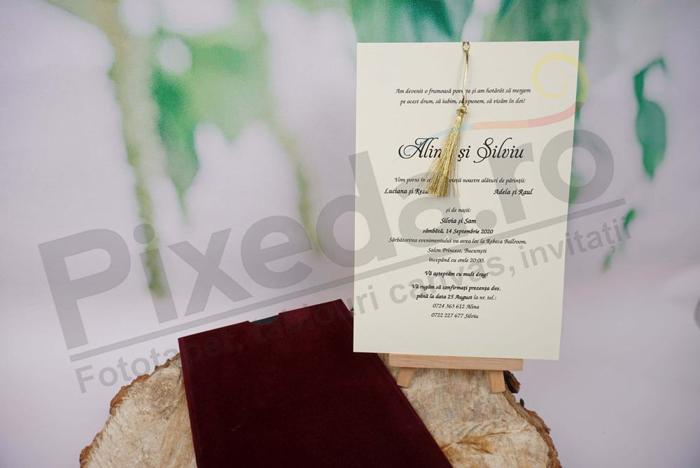 Imagine Invitatii nunta 1173 catifea
