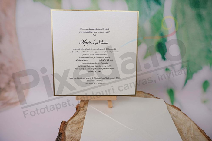 Imagine Invitatii nunta 1186 margini aurii