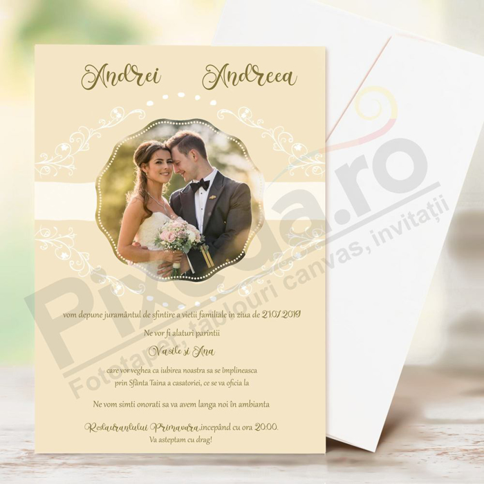 Imagine Invitatii nunta PX 10055