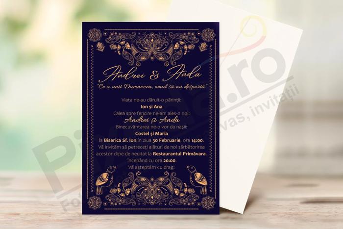 Imagine Invitatii de nunta PX 10061
