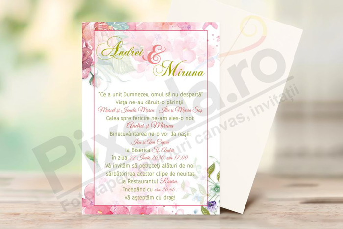 Imagine Invitatii de nunta PX 10064