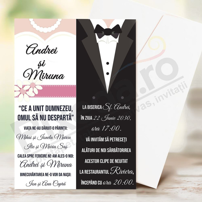 Imagine Invitatii de nunta PX 10066