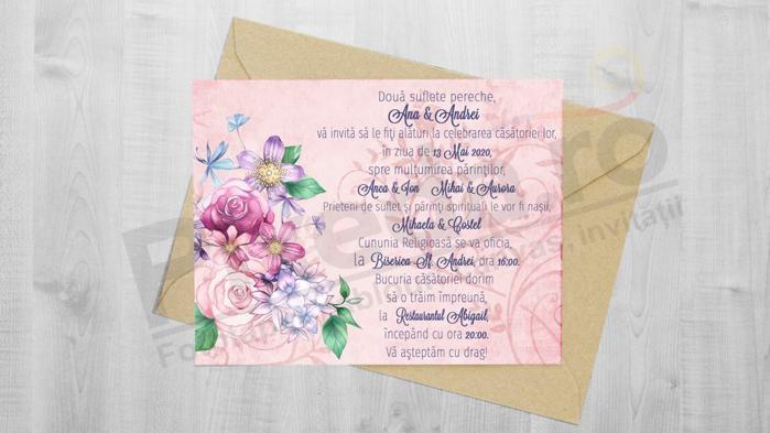 Imagine Invitatii de nunta PX 10073