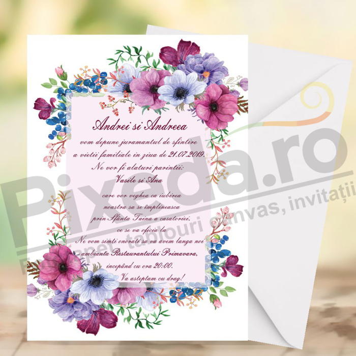 Imagine Invitatii de nunta PX 10041