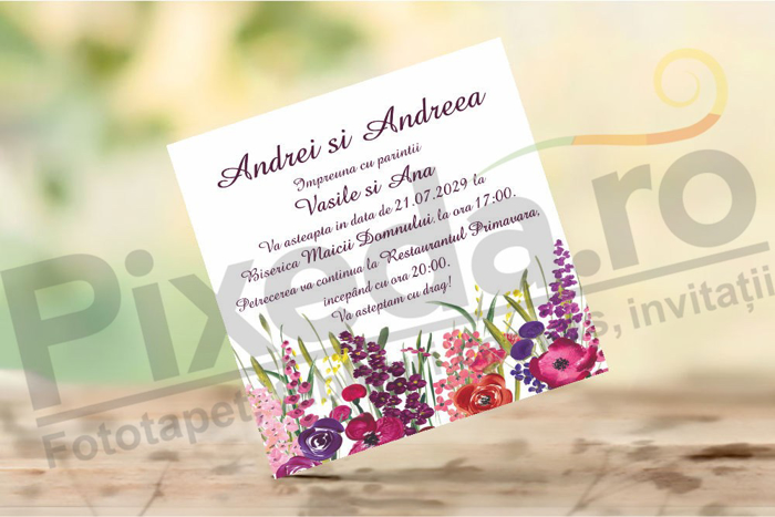 Imagine Invitatii nunta PX 10050