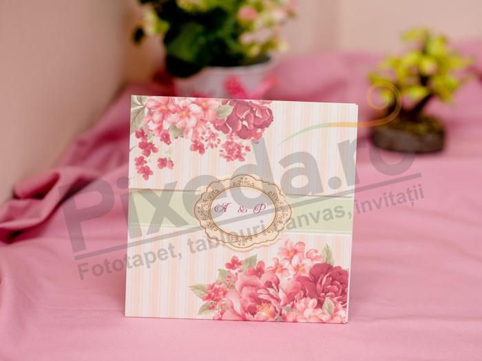 Imagine Invitatii nunta 419 flori de vara