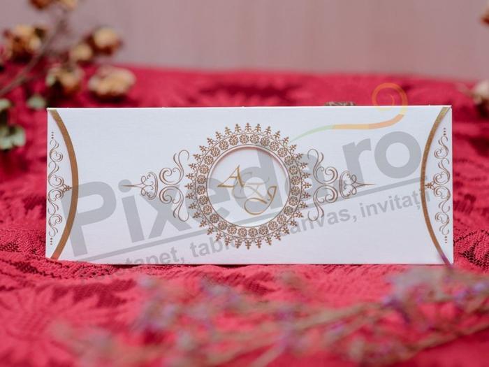 Imagine Invitatii nunta 504 baroc elegant auriu