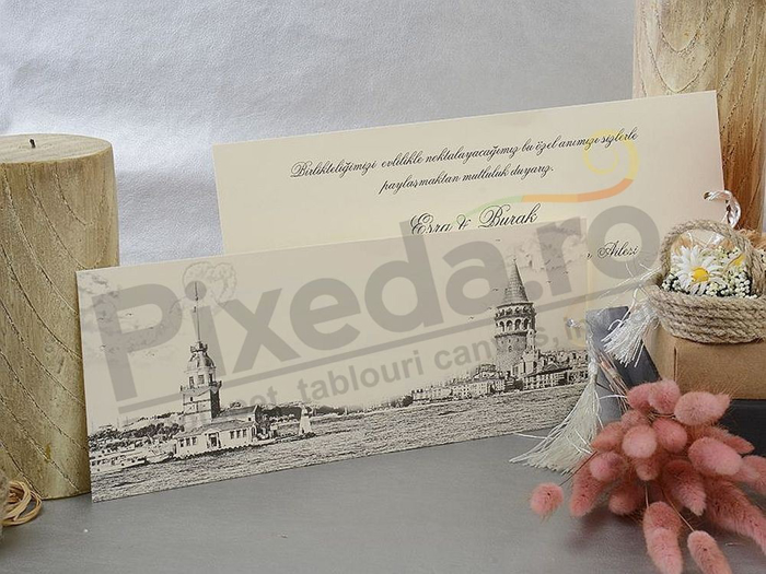 Imagine Invitatii nunta 17005 design schita creion