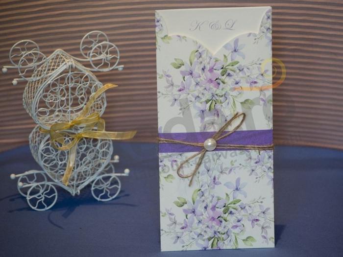 Imagine Invitatii nunta 17053 design floral discret