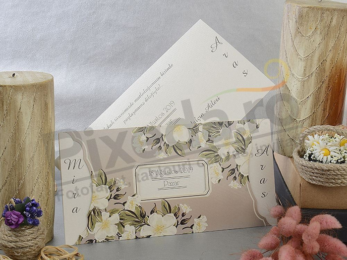 Imagine Invitatii nunta 17099 model floral elegant
